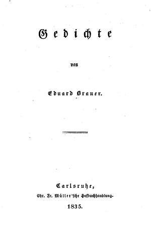 Eduard Brauer - Gedichte